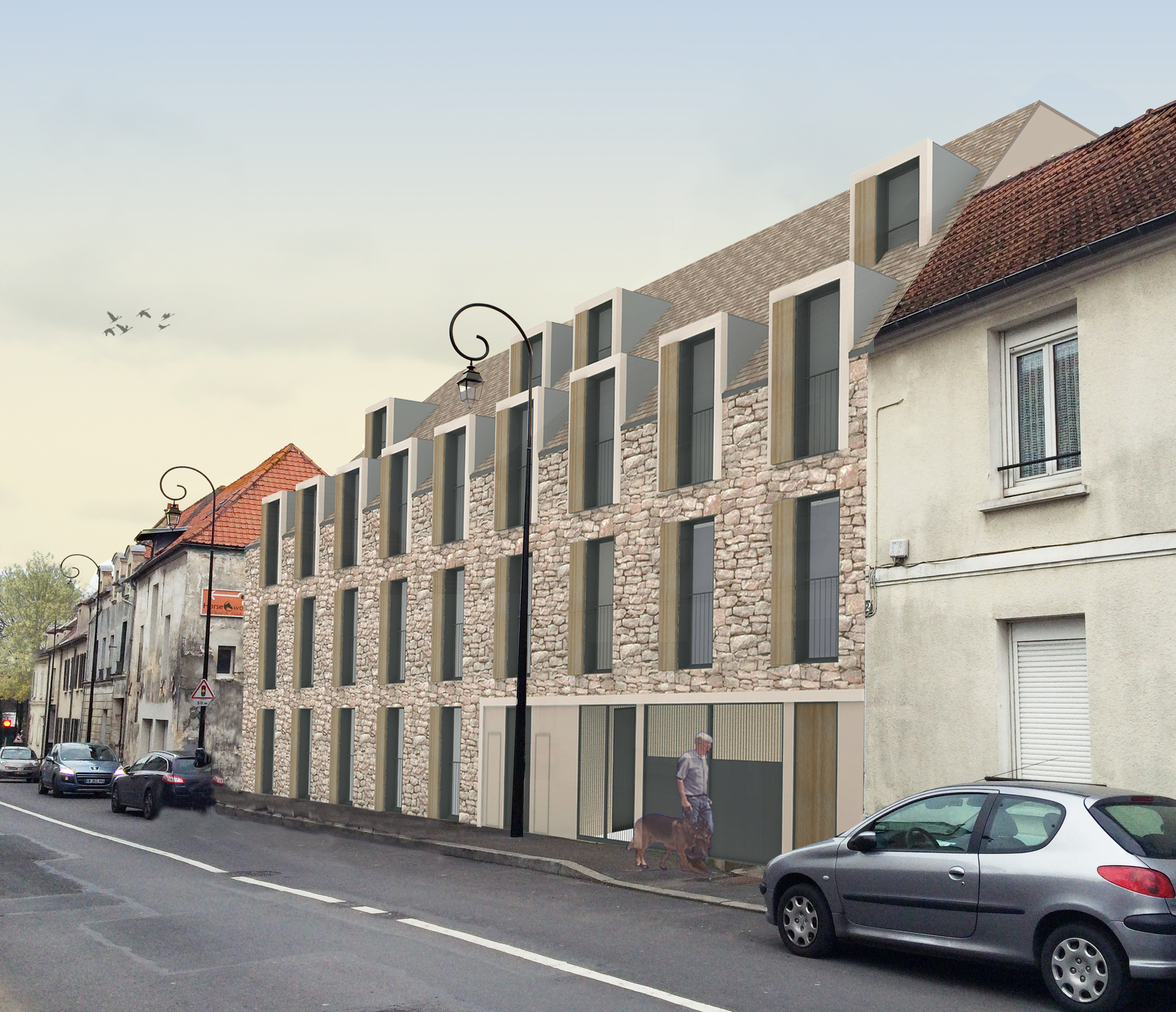 37 housing units at saint brice sous foret alexandru senciuc. Black Bedroom Furniture Sets. Home Design Ideas